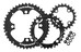 Race Face Evolve Chainring Set 4 Bolt 24/32/42 3x10 Speed schwarz